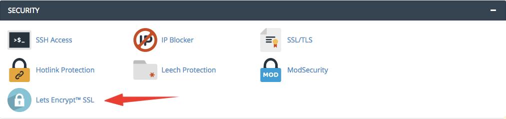 installazione certificato ssl da cpanel